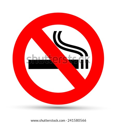 No smoking sign on a white background - stock vector