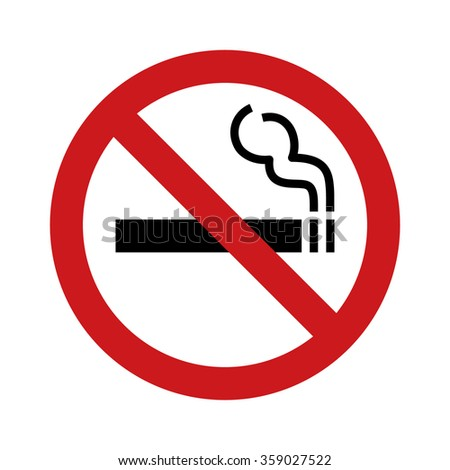No smoking sign / symbol flat icon for websites and print - stock vector