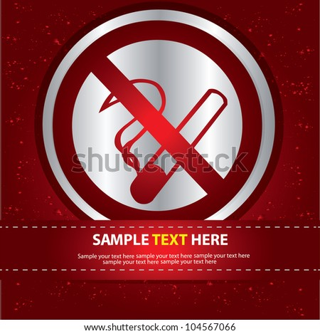 No smoking sign,Vector - stock vector