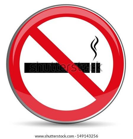 No Smoking Sign, vector - stock vector
