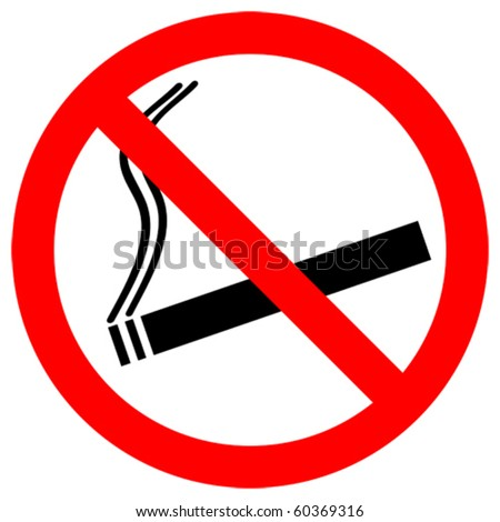 no smoking sign - vector - eps 10 - stock vector