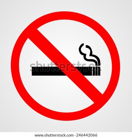 no smoking sign. vector illustration - stock vector