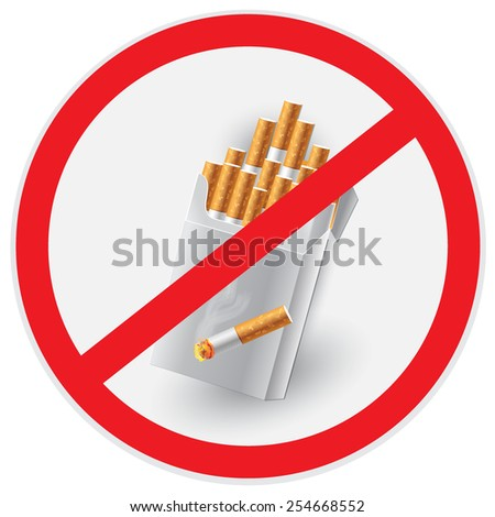 No, smoking, sign, vector, illustration - stock vector