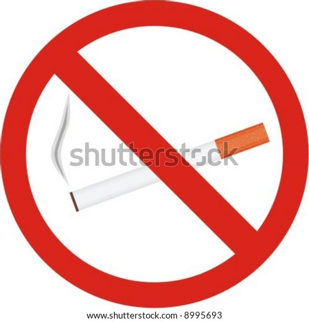 No smoking sign. Vector. Illustration - stock vector