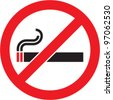 No smoking sign. Vector isolated. - stock photo