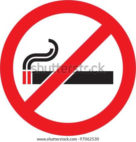 No smoking sign. Vector isolated. - stock vector