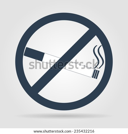 No smoking sign. Vector isolated. Flat illustrator Eps - stock vector