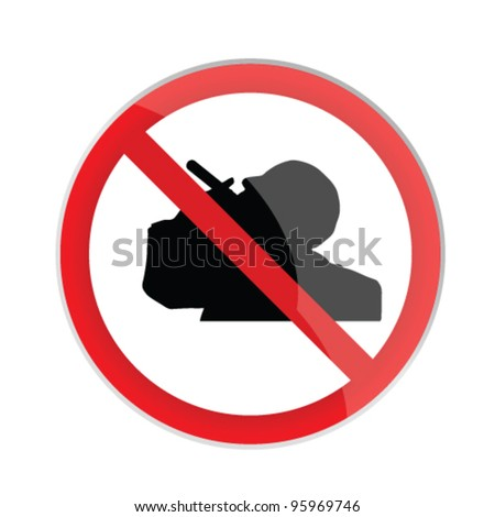 no smoking sign with man silhouette art vector