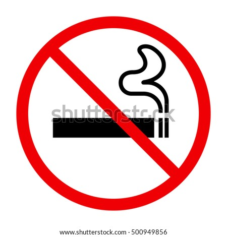 No smoking sing on white background