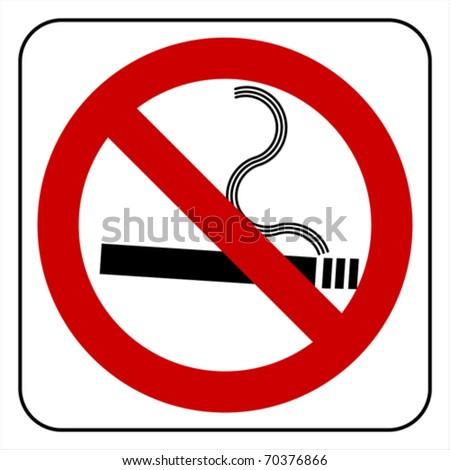 no smoking symbol, vector - stock vector