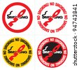 no smoking text sign - stock vector