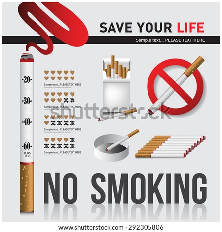 no smoking The media campaign is not to smoke . - stock vector