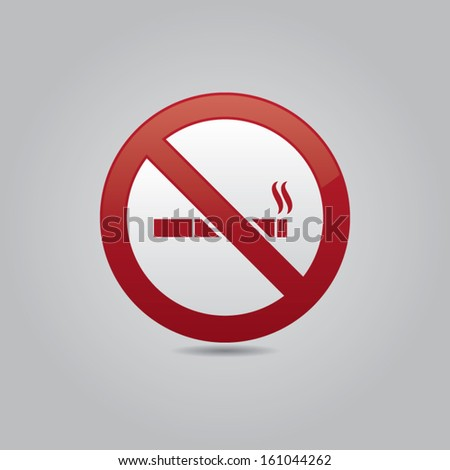 No Smoking Vector Icon