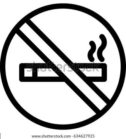 no smoking vector icon stock vector 634627925 shutterstock rh shutterstock com no smoking vector art no smoking vector image