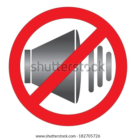 No sound icon with speaker, creative vector design.