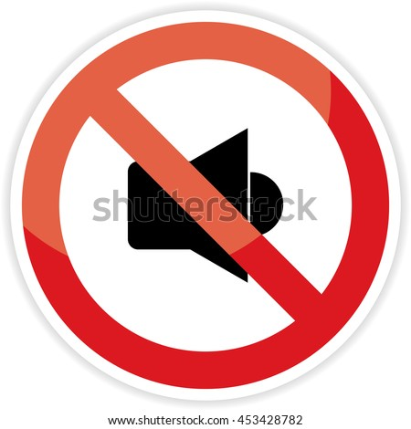 No Sound sign on white background.vector illustration