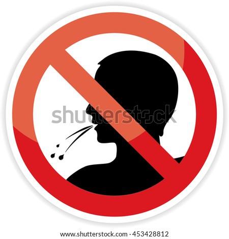 Spit Saliva Stock Images, Royalty-Free Images & Vectors ... No Spitting Sign Vector