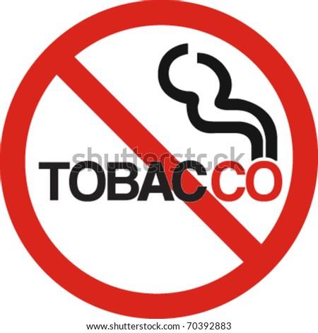 No tobacco company sign in vector - stock vector
