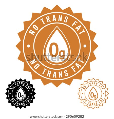 No Trans Fat Icon Seal