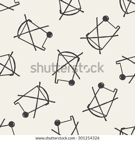 no trash doodle seamless pattern background - stock vector