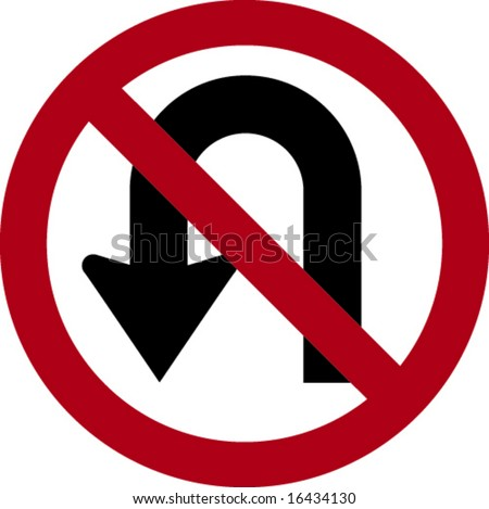 No U-Turn - stock vector