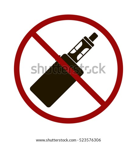 no vape vector icon. electric cigarette