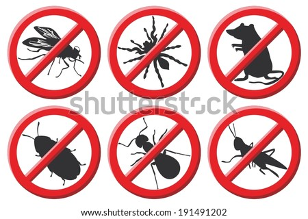 No vermin sign vector illustration - stock vector