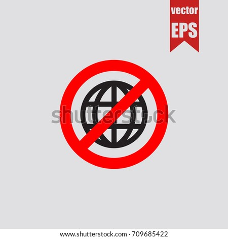No world icon in trendy isolated on grey background.Vector illustration.