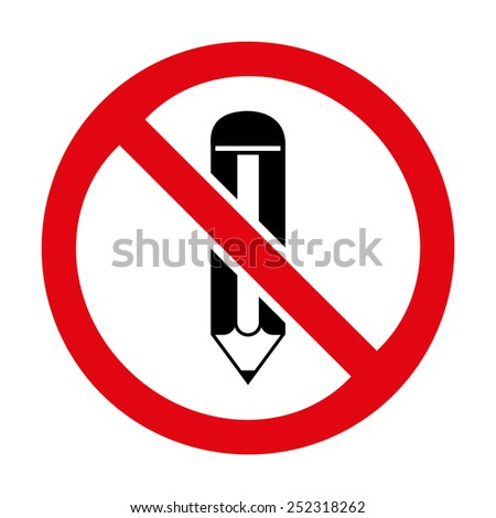 No Writing icon great for any use. Vector EPS10. - stock vector