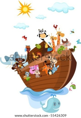 Noah's Ark - stock vector