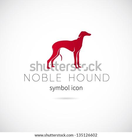 Noble hound symbol icon vector or Logo Template - stock vector