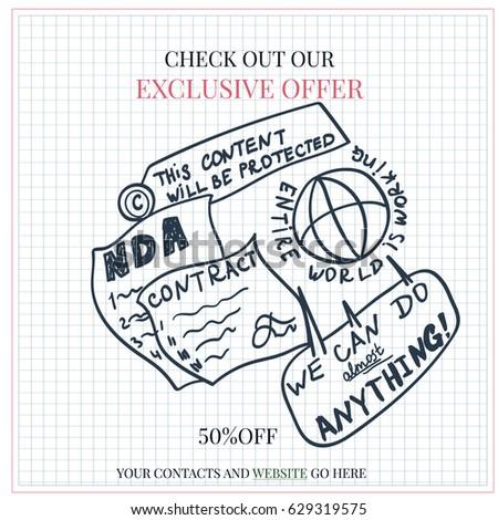 Non Disclosure Agreement Copyright Concept Vector 629319575 – Non Disclosure Agreement