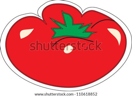 non-polluting vegetables - stock vector
