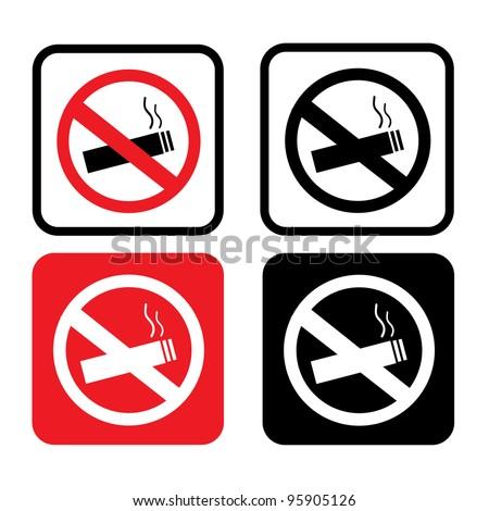 Non Smoking Icons - stock vector