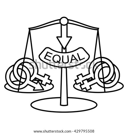 Non Traditional Marriage Equality Concept Lesbian Marriage Equality Vector Symbol Isolated Same