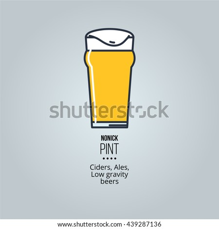 nonic pint glass icon