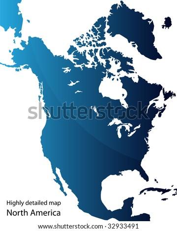 North America - stock vector