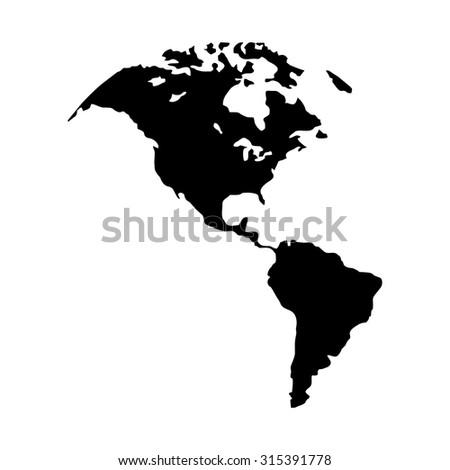 North America Map Canada Us America Stock Vector 315391778
