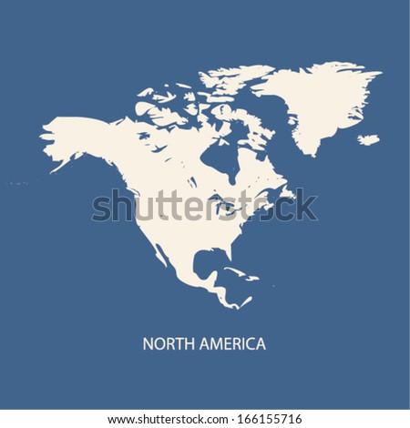 NORTH AMERICA MAP VECTOR - stock vector