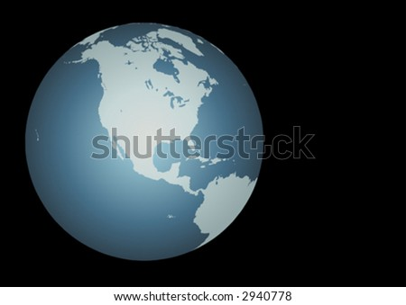 North America (Vector). Accurate map of North America. Mapped onto a globe. Includes Canada, USA, Mexico, Hawaii, Aleutians. Includes all the large lakes - stock vector