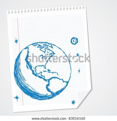 North America Vector Doodle - stock vector