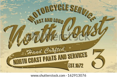 North Coast Print Vector
