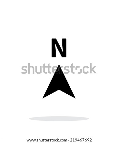 North direction compass icon on white background. Vector illustration. - stock vector