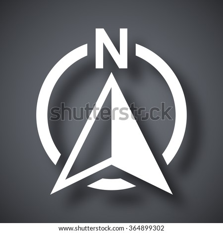 North direction compass icon, vector - stock vector