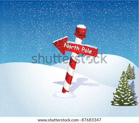 North Pole - stock vector