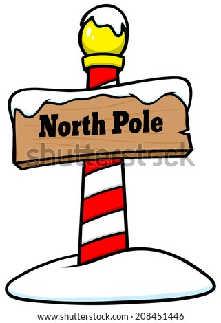 North Pole Sign  - stock vector