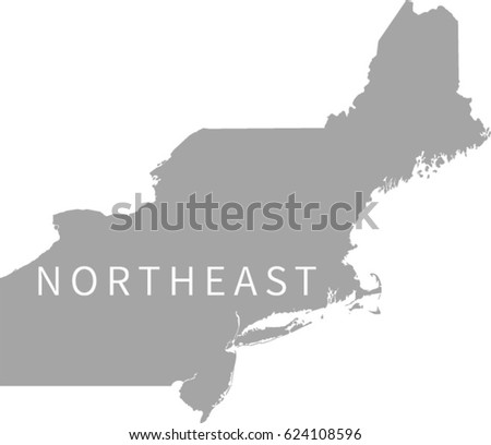 Northeast Region Stock Images RoyaltyFree Images Vectors - Northeast region us map