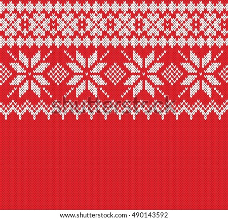 Norway Festive Sweater Fairisle Design Seamless Stock Vector ...