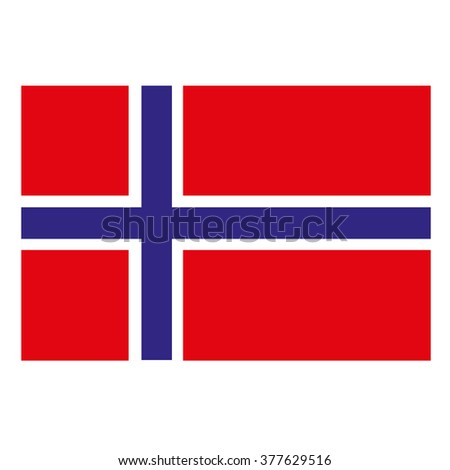 Norway Flag Icon Button