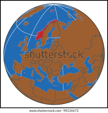 Norway Locate Map